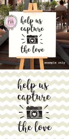 Wedding help us capture the love camera sign by LoveRiaCharlotte