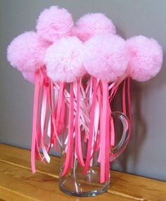 Magical Pom Pom Fairy Wands Set of 15 Party Favors