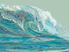 Matthew Cusick Depicts Roaring Movement of Waves Through Map Collages - Mylan's Wave