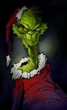 Grinch Art. Edward Pun.