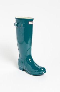 Hunter 'Original Tall' Gloss Rain Boot (Women) available at in Pillar Box  Red