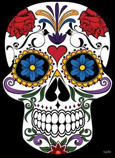 Colorful Sugar Skull Photographic Prints