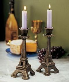 Effiel tower candle holders