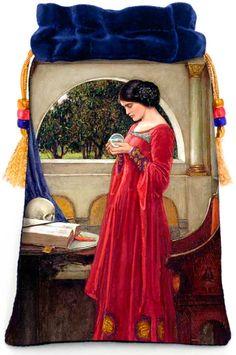 victorian romantic tarot bag