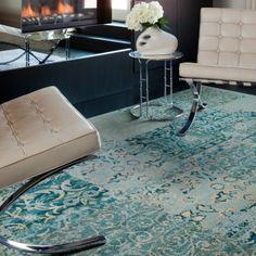 FLOR carpet tiles in REORIENTED-teal
