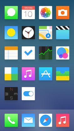 ios7.1 by jia hongta  #ios7.1 #nikhil #icons #design #iphone