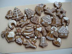 vánoce, strana 2 | Perníky Gingerbread Cookies, Cookie Cutters, Sweets, Sugar, Holiday, Desserts, Food, Spirit, Food Items
