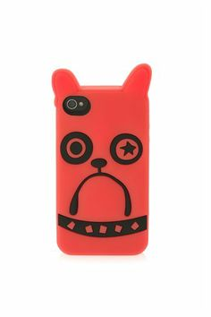 Marc Jacobs animal creature iPhone 4G case featuring a large dog graphic.100% Silicone.