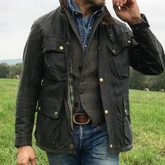 winter mens fashion which look gorgeous 956668 Barbour Coats, Belstaff Jackets, Barbour Jacket Mens, Barbour Jacket Outfit, Barbour Wax, Mens Down Jacket, Mens Outdoor Fashion, Mens Boots Fashion, Mens Fashion Over 50