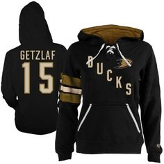 Women's Anaheim Ducks Ryan Getzlaf Old Time Hockey Black Heidi Hoodie - so cute!!!