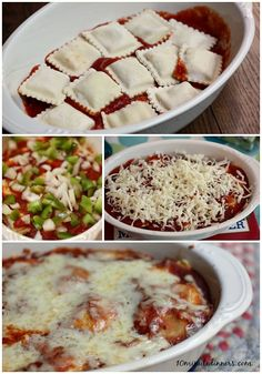 This amazingly delicious and easy, cheesy Ravioli Bake guarantees a five minute prep time. Love recipes like that. (optional veggies) #recipes @10minutedinners