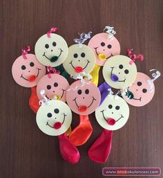 Baby Crafts, Diy Crafts For Kids, Diy Niños Manualidades, Balloon Face, Balloon Crafts, Art Drawings For Kids, Child Day, School Gifts, Preschool Activities