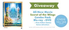 Enter to win a Blu-Ray + DVD Secret of the Wings Combo Pack at www.growingupblackxican.com ends 10/30