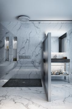 Choose from a range of furniture and accessories and create your dream stone bathroom from scratch. Stone Bathroom, Apartment Projects, Shower Base, Living Spaces, Bathrooms, Bathtub, Natural, House, Bath