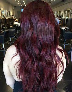 Deep Burgundy Hair Colo Idea