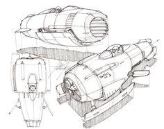 Space ship sketch