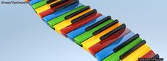 Rainbow Coloured Piano Buttons  facebook cover for your facebook profile!
