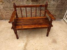 Outdoor Furniture, Outdoor Decor, Bench, Diy, Decor Ideas, Home Decor, Farm Art, Old Beds, Ideas
