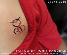Tattoo by Rohit Panchal at Crazy Addiction Tattoo, Vadodara, Gujarat ©2019 Name Tattoos, Tatoos, Alphabet, Tattoo Ideas, Addiction, Alpha Bet, Tattos