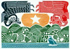 David Jones printmaking: linocuts