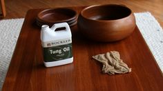 Refinish teak furniture with tung oil -- Curated by: OK Estates   7 - 1960 Springfield rd Kelowna bc v1y 5v7   250-868-8108
