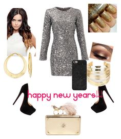 """HAPPY NEW YEAR!!!"" by fashionmaster101 ❤ liked on Polyvore featuring Slate & Willow, WithChic, Ross-Simons, Alexander McQueen and BaubleBar"