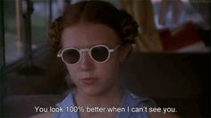 """Dominique Swain ~ """"You look better when i can't see you"""" Lolita, 1997 Motivacional Quotes, Life Quotes Love, Film Quotes, Mood Quotes, Funny Quotes, Qoutes, Cinema Quotes, Lolita 1997, Lolita Movie"""