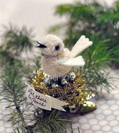 Pom pom clip ornament