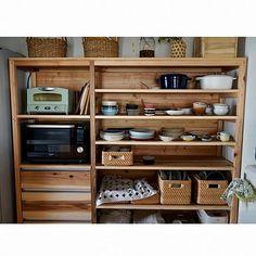 家族の、キッチン/ストウブ鍋/DIY/ittala/レンジ台についてのインテリア実例。 「食器棚を作りました。...」 (2017-09-08 08:45:35に共有されました) Tower House, Wine Rack, Home Kitchens, New Homes, Dining Room, Cabinet, Storage, Interior, Kitchen Ideas
