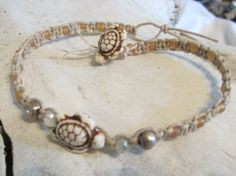 Beaded Anklet Beach Anklet Hippie Anklet Seed by edanebeadwork, $16.99