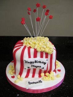 Cinema / movie birthday party.   Happy Birthday Megan!!