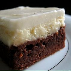 KAHLUA CHEESECAKE brownies so gonna have to try these on a cheat day