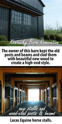 KY Barn Renovation. Tobacco barn renovated into horse barn. Lucas Equine horse stalls. by kello
