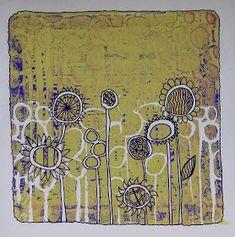 Sarah's Craft Shed: Buff Titanium Gel Plate Lift Background With Doodles! Craft Shed, Gelli Arts, Ecole Art, Cool Backgrounds, Drawing Techniques, Art Plastique, Gel Pens, Stencils, Vintage World Maps