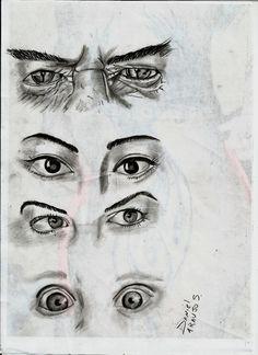 Estudo de Olhos Rabisco = D