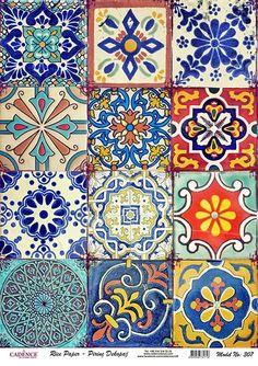 Flower Pictures for Decoupage – Wallpaper Ideas Tile Patterns, Pattern Art, Textures Patterns, Pattern Design, Patchwork Tiles, Decoupage Paper, Tile Art, Islamic Art, Oeuvre D'art
