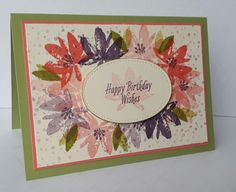 Stampin' Up! Demonstrator stampwithpeg –Sale-a-bration Wednesday : Wave farewell Avant Garden