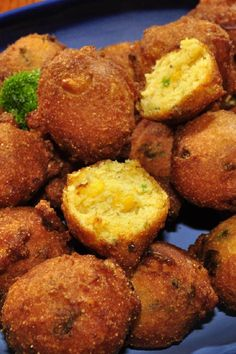 Hot and Spicy Jalapeno Cheddar Hush Puppies with Orange Dipping Sauce #Recipe