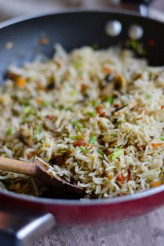 Mushroom Fried Rice | Step by step recipe | kurryleaves