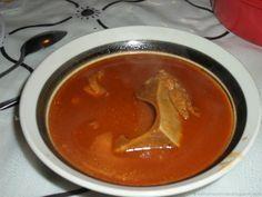 Espinazo de Puerco en Chile Colorado (Pork Neck Bones in Red Chile)