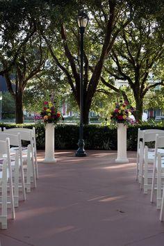 Wedding Ceremony At The Disney World Swan And Dolphin Hotel In Orlando Fl Harpist Music Musician Disneywedding Pinterest