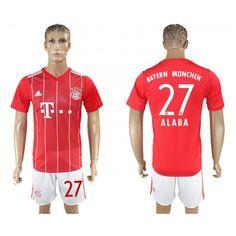 2017-18 Tenue de Foot Bayern Munich Home 27 Alaba Maillot de Foot