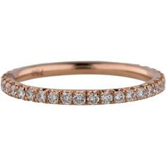 Pre-owned Diamond Eternity Band ($1,695) ❤ liked on Polyvore featuring jewelry, rings, diamond rings, pre owned jewelry, round diamond ring, 18k jewelry and 18 karat gold ring
