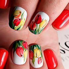 маникюр тюльпан, nail art, design,красивый маникюр, дизайн ногтей