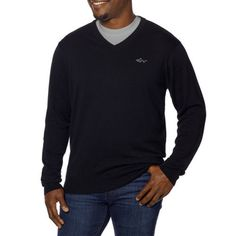 NEW Greg Norman Men's Signature Series Cotton V-Neck Sweater (Medium, Black) #GregNorman #VNeck