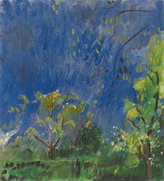 Cuno Amiet (Swiss, 1868-1961), Gewitterhimmel [Thundery sky], 1932. Oil on canvas, 60 x 55 cm.