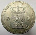 munt 3 gulden uit 1850