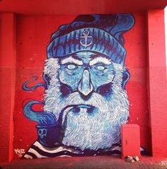 Aleix Gordo Hostau, Street Art #Street #Art #Streetart #Artist #Mural #Seaman #Pipe