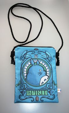 Crossbody bag/ Hip bag Totoro Art Noveau 16x22cm/6x9 inches by Morondanga on Etsy https://www.etsy.com/listing/162964396/crossbody-bag-hip-bag-totoro-art-noveau