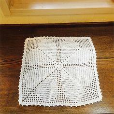 クローバー模様のコットンクロッシェ/本の紹介「手編みの雑貨」 - knitravel's diary